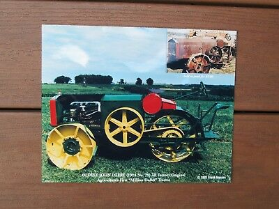 Vtg 1991 Frank Hansen Oldest John Deere Farm Tractor 1918 No. 79  8x10 photo