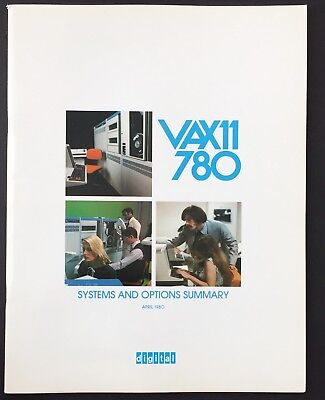 Digital DEC VAX-11/780 Systems And Options Summary 1980