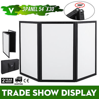 "54 X 30"" 3 Panel Tabletop Display Presentation Board Stable Black Sturdy GREAT"