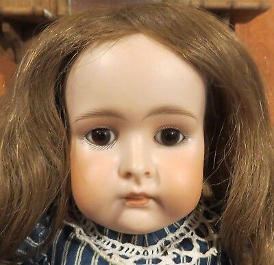"""19"""" Antique German Bisque Closed Mouth Kestner Doll w/Human Hair Wig w/Pate"""