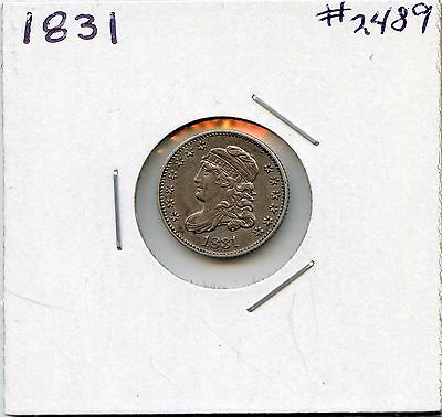 1831 H10C Capped Bust Silver Half Dime. Almost Uncirculated. Lot #2175