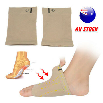 GEL Plantar Fasciitis Foot Heel Arch Support Sleeve Pain Relief Insole Orthoti Z