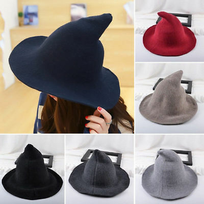 Modern Witch Hat Made From High Quality Sheep Wool Halloween Party Witch Hats US