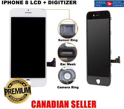 iPhone 8 - White or Black - LCD Replacement Screen Touch Digitizer Assembly 4.7""
