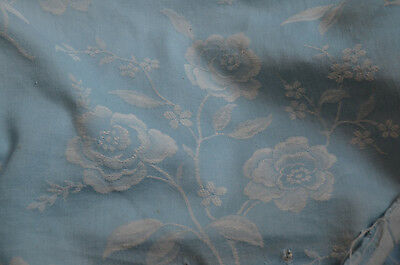 Antique French pure cotton damask floral weave matress ticking 2.5 yards