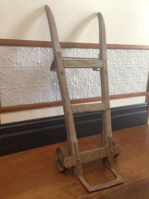 Antique Industrial wooden & steel Railway Trolley