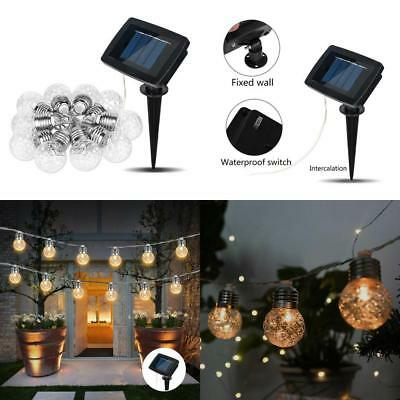 Solar Powered Retro Bulb String Lights For Garden Outdoor Fairy Summer Lamp 5.5V