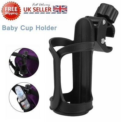 Drink Holder Baby Stroller Milk Cup Bottle Holder for Bike Pram/Pushchair Black