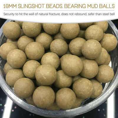 100Pcs Slingshot Beads Bearing Mud Airsoft Ammo Solid Clay Balls Eggs Hunting ZI