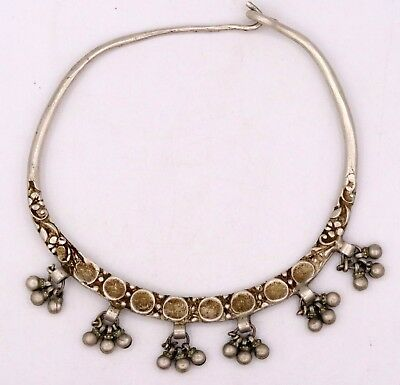 Awesome Silver Handmade Old Vintage Antique Tribal Baby Necklace Choker Jewelry