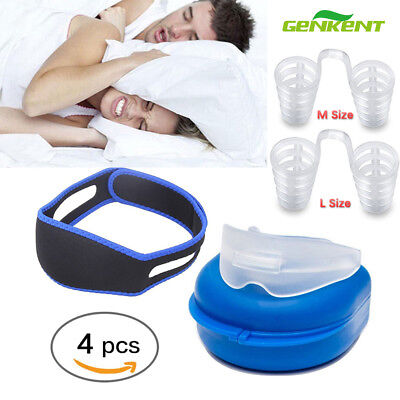 Snore Stopper Anti Snoring Mouth Guard Device Sleep Aid Stop Apnoea Belt Gurard
