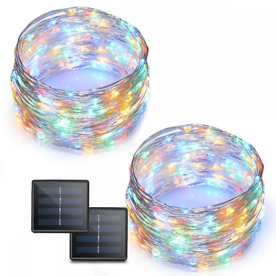 72 Feet LED String Lights 200 Solar Powered Copper Wire Starry Rope 2 Pack