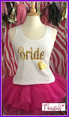 NEW size S misses white bride tank top bachelorette tank top bride to be heart