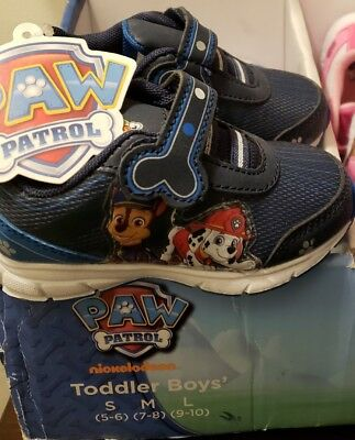 NEW Boys Toddler Paw patrol Sneakers Shoes Size 5 6 & 10. Free shipping!