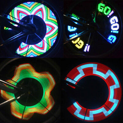 32 Pattern LED Colorful Bicycle Wheel Tire Spoke Signal Light For Bike Safety
