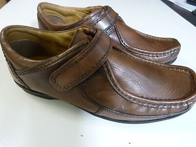 New Boys Marks And Spencer Autograph Brown Leather Shoes Uk 6