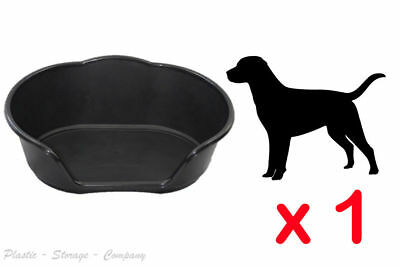 Extra Large Plastic Dog / Cat / Pet Bed Black Heavy Duty Basket Cosy Made In Uk