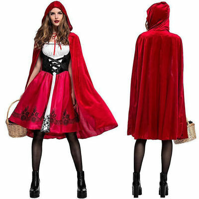 Women Halloween Little Red Riding Hood Costume Fancy Dress Party Outfit Cosplay