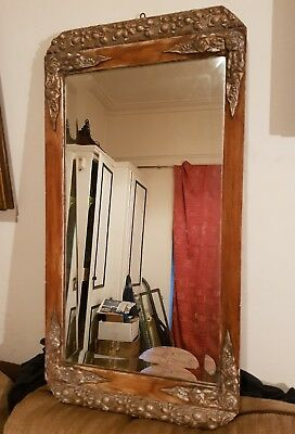 Beautiful!  Early to Mid 19th Century Gilt Hand Carved French Wooden Mirror