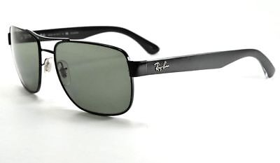 ca985e6130 Ray-Ban RB3530 002 9A Black Frame Polar Green Lens Polarized Sunglasses