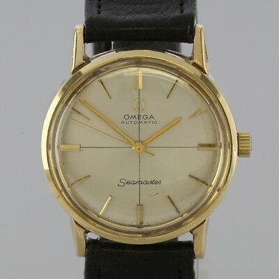 Vintage Omega Automatic Seamaster Gents Wristwatch 9ct Yellow Gold Circa.1963