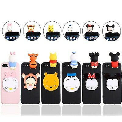 Disney 3D Mickey Minnie Soft Rubber Case Cover For HUAWEI P20 P8 P9 10 Lite 2017