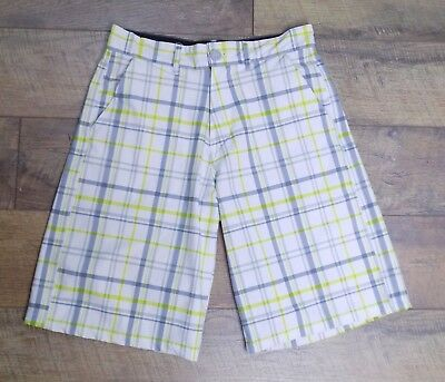 40b26a51a0 Ocean Pacific Op OPFlex 4 Way Stretch Plaid Shorts Casual Golf Flat Front 28