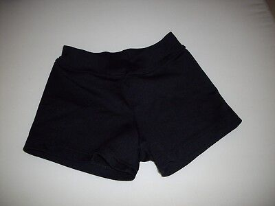 BODY WRAPPERS Girl's Size 4/6 ~Black~ Fitted Dance Short (UEC!)