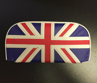 Rear / back rest cushion Union Jack for Vespa, LML & Lambretta (W250mm x H130mm)