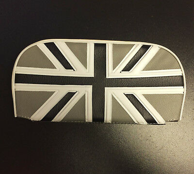 Rear / back rest cushion Union Jack silver & black for Vespa, LML & Lambretta