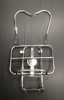 Rear back carry rack spare wheel holder 2 way chrome for Vespa PX by Cuppini