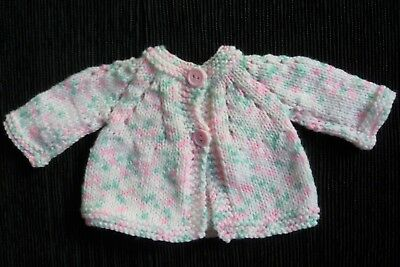 Baby clothes GIRL premature/tiny<5lbs/2.3kg NEW!soft cute pink, rainbow cardigan