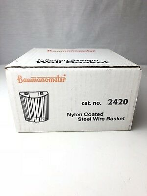 Baumanometer Nylon Coated Steel Wire Basket #2420 New