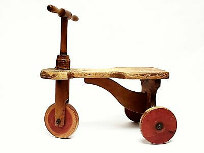 Early Wooden Tricycle Collectible - Kiddie Kar Patented 1916 - 1918 U.S.A.