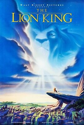 The Lion King (1994) Original Movie Poster  -  Rolled  -  Double-Sided