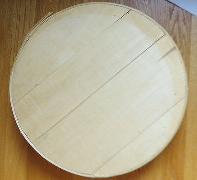 Round Rustic Bentwood Box Unfinished Unpainted Surface  Pine Wood  A6013