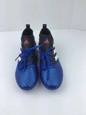 new product 00292 5d62b ADIDAS ACE 17.2 Primemesh FG Soccer Cleats Blue Black BB4325 Men's Sz. 8  R37-36