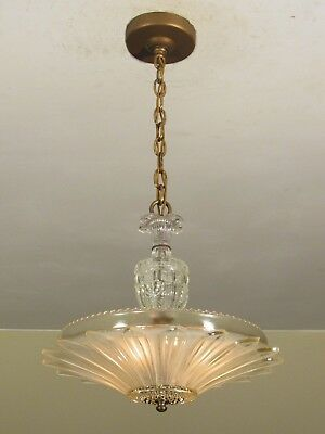 RESTORED! Antique Sunflower Shade Light Fixture Excellent Condition! L2