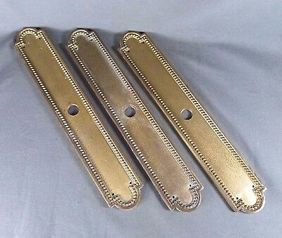 3 French Antique Massive Bronze Push Plate Door