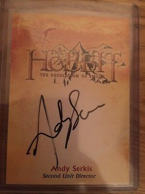 The Hobbit Desolation of Smaug Autograph Card Andy Serkis as 2nd unit Director