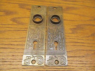 Old Brass ?? Bronze ?? Door Knob Plates....escutcheons...ornate