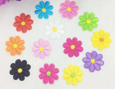 2 x Iron On Flower Daisy  Applique Sew on *Buy 1 get 1 30% Off *2