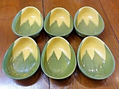 Vintage Set  6 Shawnee Corn King Queen Coupe Cereal Bowls # 94 Soup $360 retail