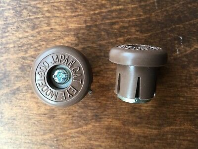 NOS Pair 2 Velox *old logo* Rubber Handle Bar End Expanding Plugs Caps France