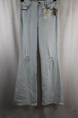 Womens Rachel Roy Distressed High Waist Flare Jeans Size 28 Zip Fly Nwt $89