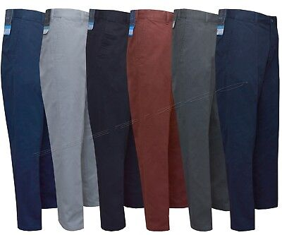 Mens Chino Classic Fit Trouser Casual 100% Cotton 30-46 Active Elasticated Waist