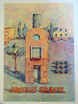 1997 Absolut Graves Graphic Design Michael Graves Architecture Print AD