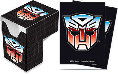 Ultra Pro Transformers Autobots Deck Box PLUS 65ct Sleeves Combo BRAND NEW!!