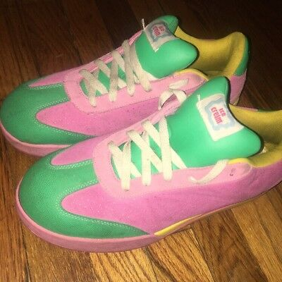 BBC ICE CREAM Shoes Pink Yellow Green USA Mens 10 Board Flip ... 46f549f4b