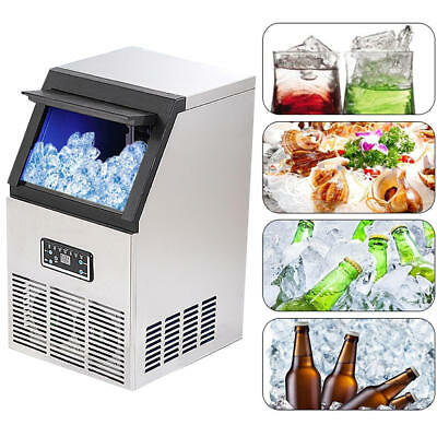 220V 40kg Auto Commercial Ice Maker Cube Machine Ice making Equipment Stainless